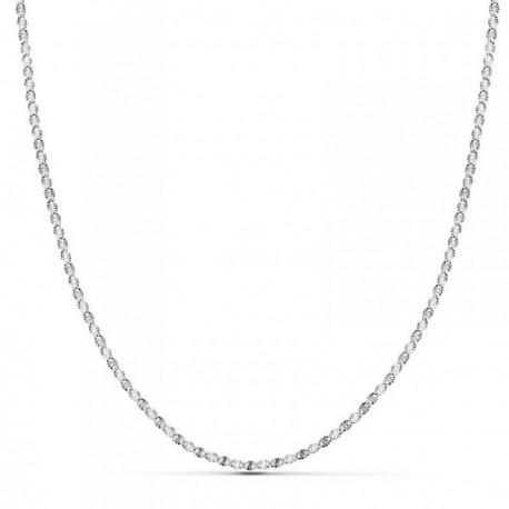 Cadena oro blanco 18k diamantada 50cm. espesor 1.5mm. [AB8747]
