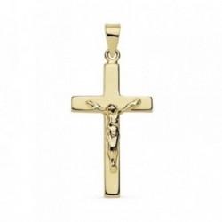 Colgante oro 18k cruz Cristo 23mm. crucifijo [AB8751]