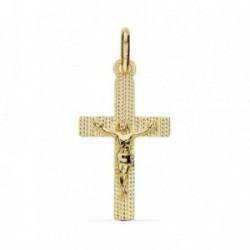Colgante oro 18k cruz crucifijo 23mm. Cristo [AB8777]
