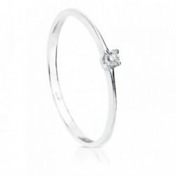 Solitario oro blanco 18k diamante 0.030ct. [AB8783]