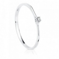 Solitario oro blanco 18k diamante 0.030ct. [AB8784]