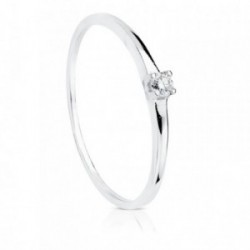 Solitario oro blanco 18k diamante 0.055ct. [AB8785]