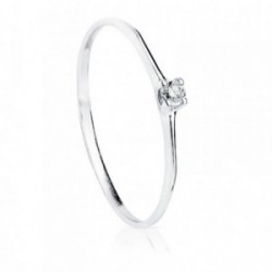 Solitario oro blanco 18k diamante 0.055ct. [AB8786]