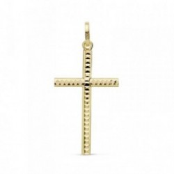 Colgante oro 18k cruz 25mm. tallada [AB8794]