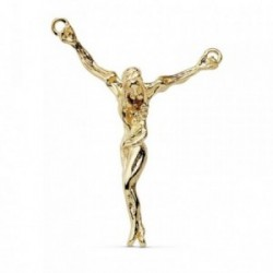 Colgante oro 18k Cristo Dalí 38mm. liso [AB8839]