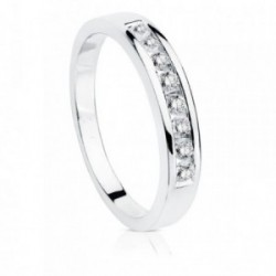 Sortija oro blanco 18k brillantes diamantes 0.24ct. [AB8846]