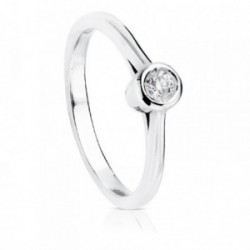 Solitario oro blanco 18k brillante diamante 0.10ct. [AB8847]