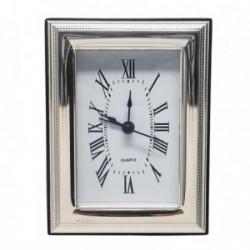 Reloj despertador plata Ley 925m trasera madera [AB5952]