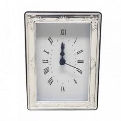 Reloj despertador plata Ley 925m trasera madera lacada [AB5953]