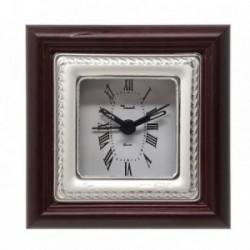 Reloj despertador plata Ley 925m mate brillo espiral [AB5958]