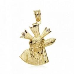 Medalla oro 18k Cristo Gran Poder 24mm. silueta [AB8981]