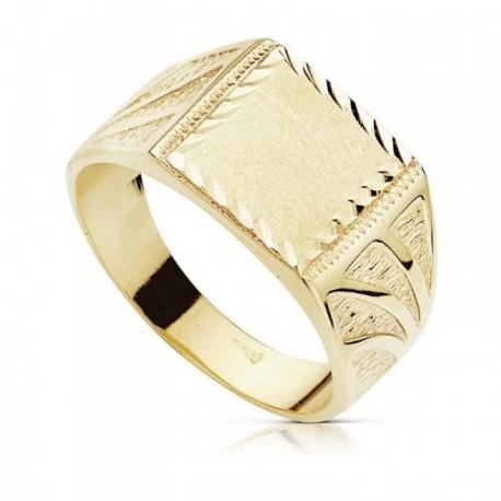 Sello oro 9k caballero tallado [AB9014]