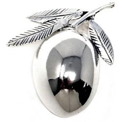 Alfiler colgante plata Ley 925m aceituna ovalada [AB9157]