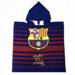 Poncho F.C. Barcelona niño microfibra MÉS QUE UN CLUB [AB9149]