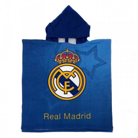 Poncho Real Madrid niño microfibra azul estrellas [AB9147]