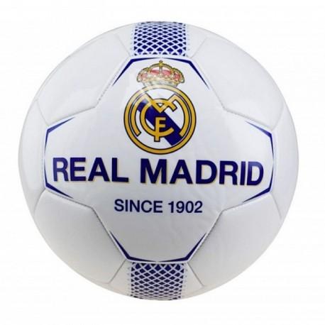 Balón grande Real Madrid blanco azul escudo [AB9145]
