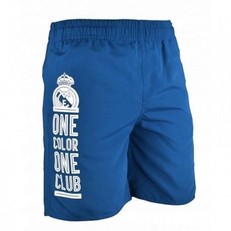 Bañador Real Madrid adulto ONE COLOR ONE CLUB azul blanco [AB9142]