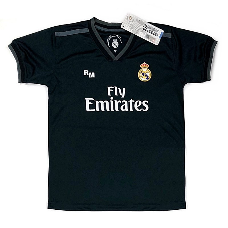 Camiseta Real Madrid 2018-19 réplica oficial junior segunda  AB9185  1aa3763cd7e9f