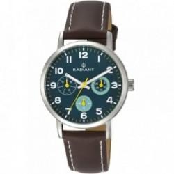 Reloj Radiant cadete Funtime Blue Brown RA448704 analógico pulsera piel marrón