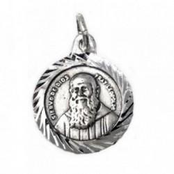 Medalla Plata Ley 925m escapulario 15mm. Fray Leopoldo  [AB9271]