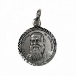 Medalla Plata Ley 925m Fray Leopoldo 19mm. cerco tallado [AB9272]