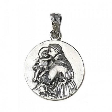 Medalla Plata Ley 925m San Antonio 21mm. [AB9273]