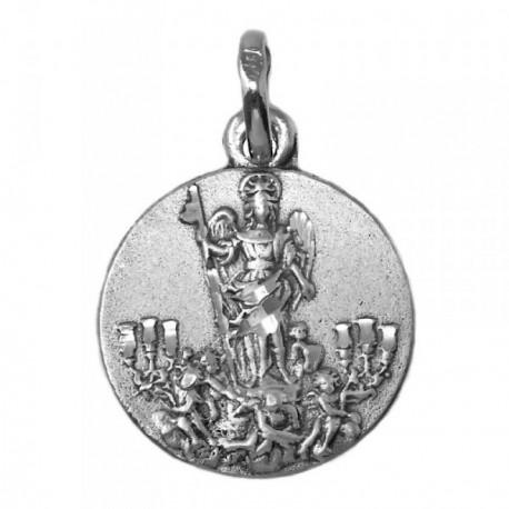 Medalla Plata Ley 925m San Rafael 16mm. oración [AB9275]