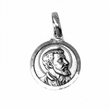 Medalla Plata Ley 925m San Francisco Javier 13mm. [AB9289]