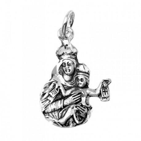 Colgante Plata Ley 925m Virgen del Carmen 20mm. silueta [AB9292]