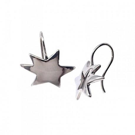 Pendientes plata Ley 925m Agatha Ruiz de la Prada estrella [AB9055]