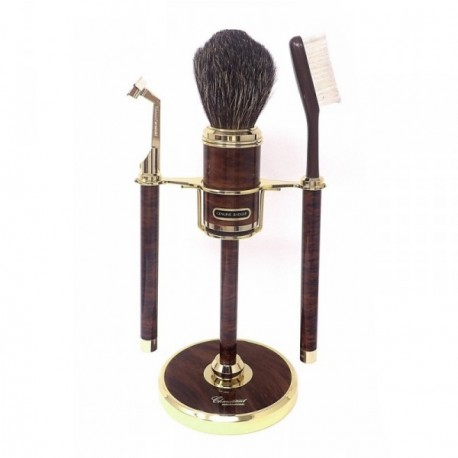 Set afeitar marrón metal dorado  [AB9056]