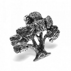 Pin plata Ley 925m olivo solapero [AB5893]