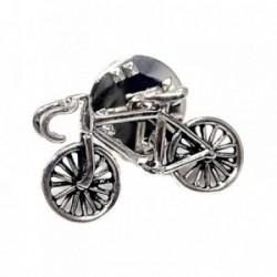 Pin plata Ley 925m bicicleta solapero [AB5894]