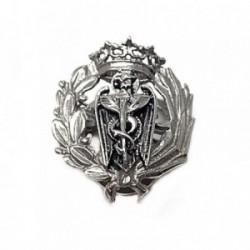 Solapero plata Ley 925 oxidada insignia profesión comercio [AB5896]