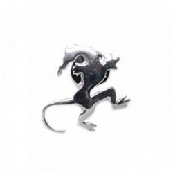 Pin plata Ley 925m dragón cabeza cola [AB5897]