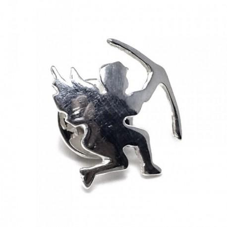 Pin plata Ley 925m cupido alas arco [AB5900]