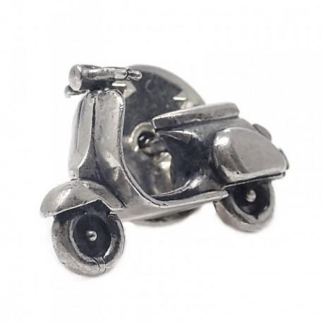 Pin plata Ley 925m oxidada moto vintage [AB5902]