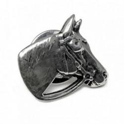 Pin plata Ley 925m caballo crin brida [AB5904]