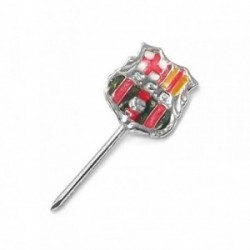 Pin aguja plata Ley 925m FC Barcelona esmaltado [AB5907]