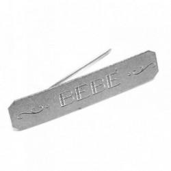 Broche alfiler plata Ley 925m texto grabado BEBÉ [AB5910]