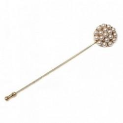 Alfiler aguja metal chapado roseta perlas sintéticas  [AB6237]