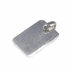 Chapa plata Ley 925m rectangular lisa  [AB5909GR]
