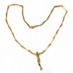 Gargantilla metal chapada 52cm. dorada Cristo Dalí  [AB5182]