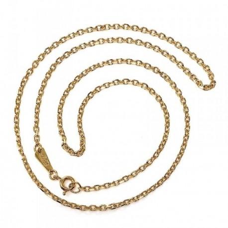 Cadena metal chapada 50cm. dorada forzada [AB5193]