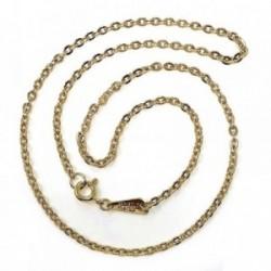 Cadena metal chapada 40cm. dorada forzada [AB5489]