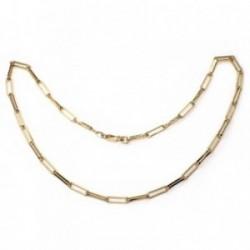 Gargantilla metal chapada 50cm. eslabones rectangulares [AB5490]