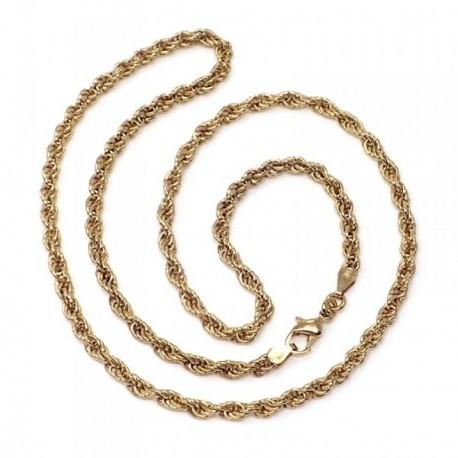 Cadena metal chapada 50cm. cordón salomónico [AB5491]