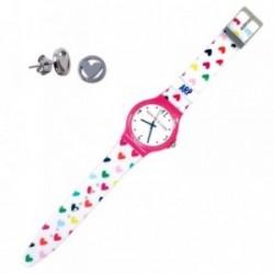 Juego Agatha Ruiz de la Prada reloj AGR219 pendientes plata [AB9348]