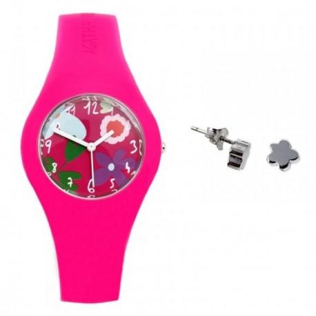 Juego Agatha Ruiz de la Prada reloj AGR221 pendientes plata [AB9349]