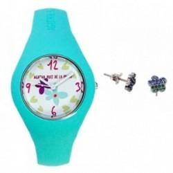 Juego Agatha Ruiz de la Prada reloj AGR225 pendientes plata [AB9352]